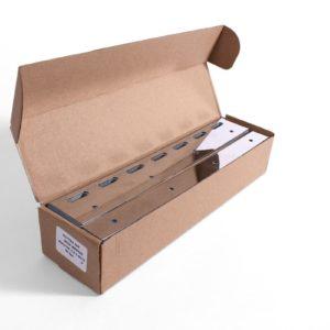 sklep płytki na pas folii 200mm kurtyny lamelowe INOX