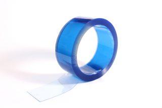 folia standard do kurtyn paskowych PCV niebieska