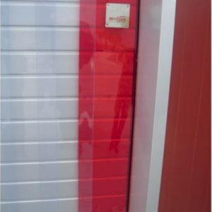 pasy folii PVC, skrajny pas czerwony