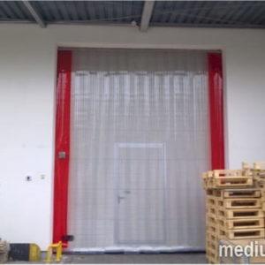 kurtyna PVC zewnętrzna żebrowana dla wózków widłowych