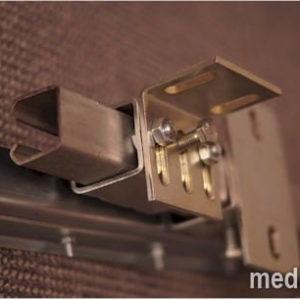 system przesuwny zsuwny MeVerti do kurtyny paskowej mocowanie