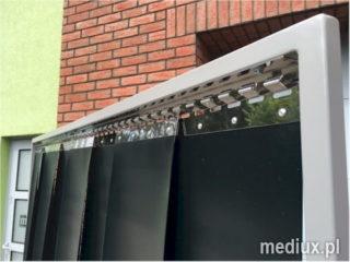 ekrany spawalnicze okucia INOX gotowy zestaw kurtyny spawalnicza
