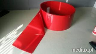 rolka folia PCV czerwona nieprzejrzysta