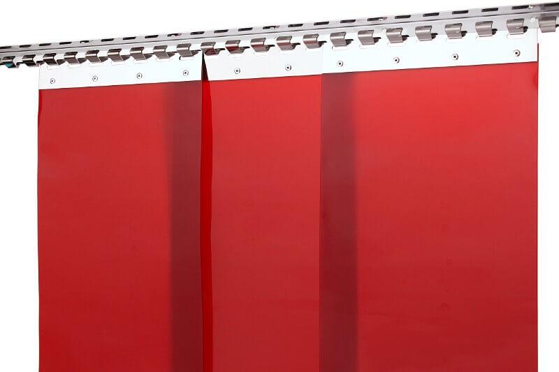 kurtyna spawalnicza czerwona