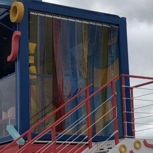 kurtyna paskowa drzwiowa z folii kolorowej