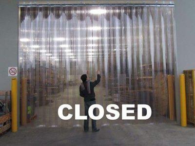 kurtyna przesuwna zamknięta