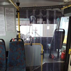 przegroda przeciwwirusowa w autobusie Autosan