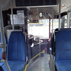 przegroda przeciwwirusowa w autobusie MAN