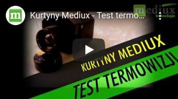 Kurtyny paskowe pcv Mediux - Test termowizji