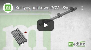 Kurtyny paskowe PCV - System zsuwny MeVerti