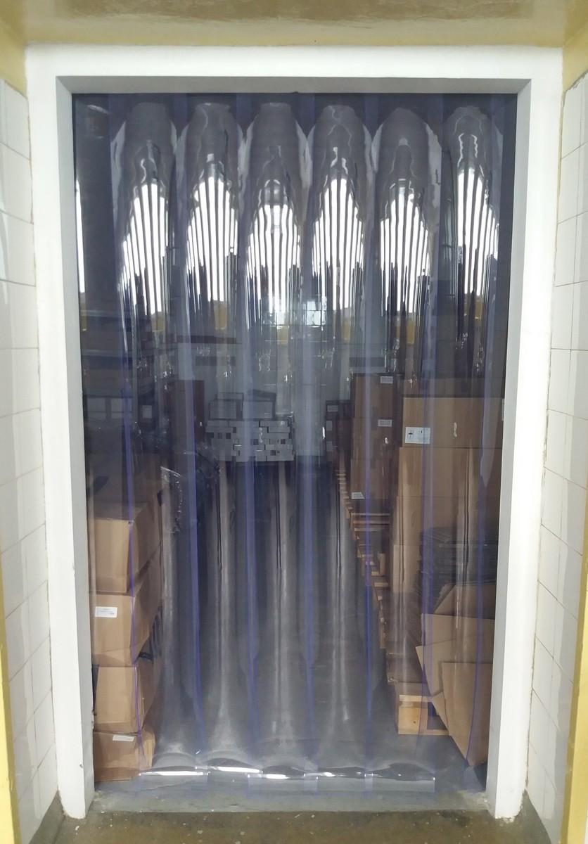 kurtyny paskowe z transparentnymi pasami pcv